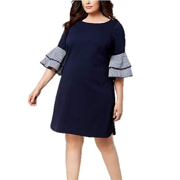 ec97b64cb6d3b Jessica Howard Dresses | Womens Plus Solid Gingham Dress | Poshmark